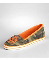 Tory Burch | Green Printed Slip On Sneaker | Lyst