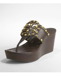 Tory Burch - Brown Marissa Studded Logo Sandal - Lyst
