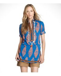 Tory Burch | Multicolor Embellished Tory Tunic | Lyst