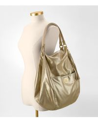 Tory Burch - Metallic Leather Dean Oversized Hobo - Lyst