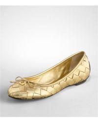 Tory Burch - Metallic Prescot Ballet Flat - Lyst