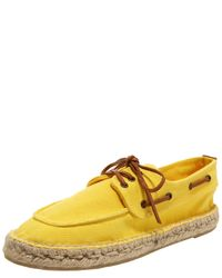Tory Burch | Yellow Canvas Espadrille Boat Shoe | Lyst