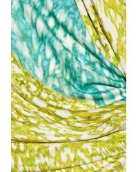 Peter Pilotto | Green Printed Silk Mini Dress | Lyst