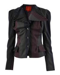 Vivienne Westwood Red Label - Black Pinstripe Tailored Jacket - Lyst