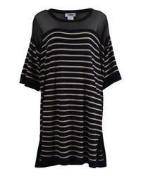 Sonia by Sonia Rykiel | Black Mesh Top Stripe Dress | Lyst