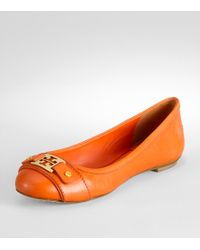 Tory Burch | Orange Clines Ballet Flat | Lyst