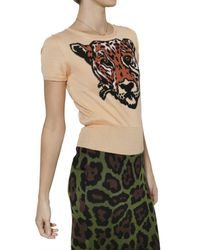 JC de Castelbajac | Natural Tiger Intarsia Knit Sweater | Lyst