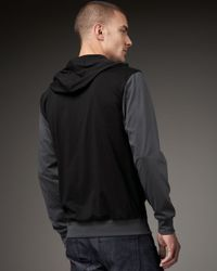 7 For All Mankind | Black Colorblock Pullover Hoodie for Men | Lyst