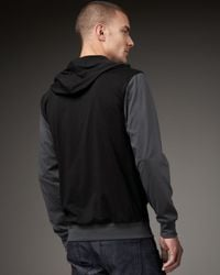 7 For All Mankind - Black Colorblock Pullover Hoodie for Men - Lyst