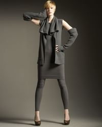 Donna Karan - Gray Cashmere-blend Leggings - Lyst