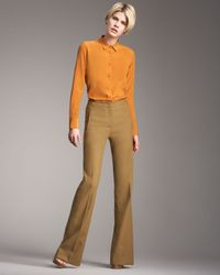 Etro | Orange Silk Blouse | Lyst