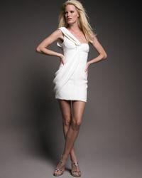 J. Mendel | Natural One-shoulder Draped Dress | Lyst