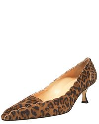 Manolo Blahnik | Multicolor Scalloped Leopard-print Pump | Lyst