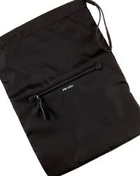 Prada | Black Beach Flip Flop, Nero for Men | Lyst