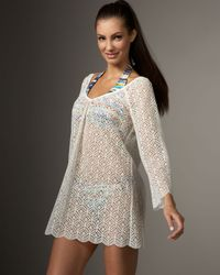 Shoshanna | White Crocheted Tunic | Lyst