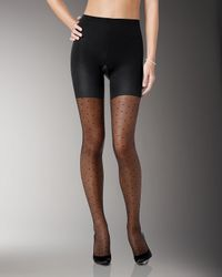 Spanx - Black Sheer Fashion Pantyhose - Lyst
