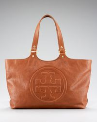 Tory Burch | Brown Vintage Bombe Burch Tote | Lyst