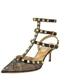 Valentino | Black Ankle Strap | Lyst