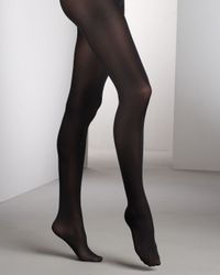 Wolford | Black Satin Opaque 50 Tights | Lyst