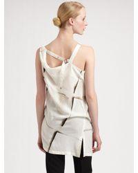 Ann Demeulemeester | White Slash One Shoulder Strap Top | Lyst