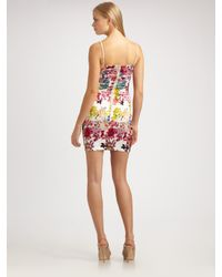 Dolce & Gabbana | Multicolor Mimosa-print Stretch Silk Dress | Lyst