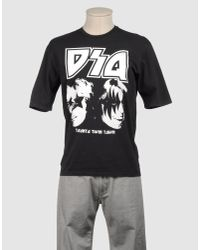 DSquared² - Black Abstract Print T-shirt for Men - Lyst