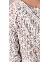 Free People - White Sail Away Henley Sweater - Lyst