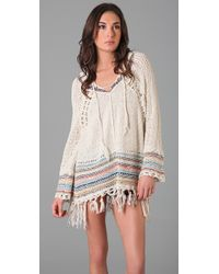 Free People | Natural Tah Loo Hooded Sweater | Lyst