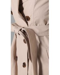 Gryphon - Natural Skirt Trench - Lyst