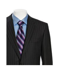 Hickey Freeman - Blue Navy Pinstriped Worsted Wool 2-button Madison Suit with Pleated Pants for Men - Lyst