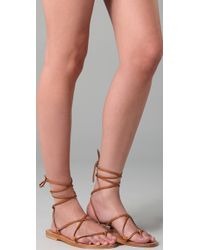 K. Jacques | Brown Bikini Roman Thong Sandals | Lyst