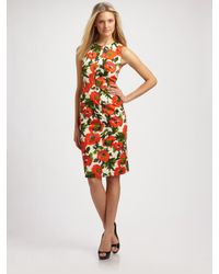 MILLY | Multicolor Colette Printed Sheath Dress | Lyst