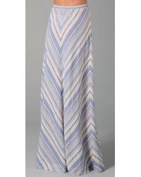 Rag & Bone | Blue The Carmel Skirt | Lyst