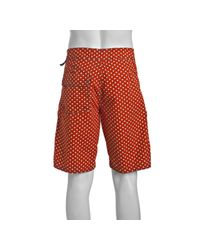 Relwen - Orange Polka Dot Cotton Board Shorts for Men - Lyst