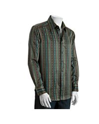 Robert Graham | Green Embroidered Stripe Zagaris Shirt for Men | Lyst