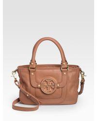 Tory Burch | Natural Amanda Top Handle Bag | Lyst