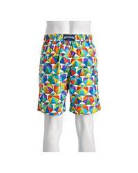Vilebrequin | Blue Beach Umbrella Okoa Drawstring Swim Trunks for Men | Lyst
