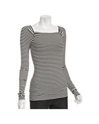 Bailey 44 | Black Stripe Jersey Twist Back Top | Lyst