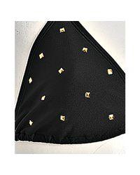 Brette Sandler Swimwear - Black Skyler Pyramid Studded Triangle Bikini - Lyst