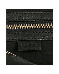 Céline - Black Pebbled Leather Hobo - Lyst