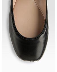 Chloé | Black Ankle Strap Ballet Flats | Lyst
