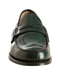 Church's | Dark Green Leather Turnbridge Penny Loafers for Men | Lyst