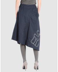 Comme des Garçons | Blue Padded Skirt | Lyst