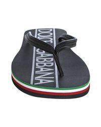 Dolce & Gabbana - Black Logo Flip Flops for Men - Lyst