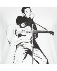 Dolce & Gabbana - White Elvis Print T-shirt for Men - Lyst