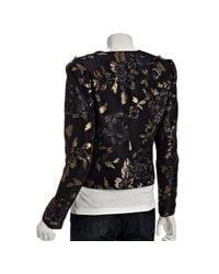 Elie Tahari - Black Metallic Jacquard Odessa Jacket - Lyst