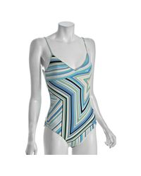 Emilio Pucci | Blue Star Print One Piece Swimsuit | Lyst