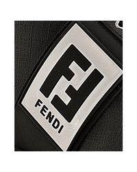 Fendi - Black Coated Zucca Rubber Trim Sneakers for Men - Lyst