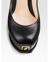 Fendi | Black Sta Platform Pumps | Lyst