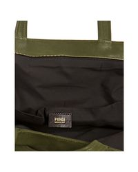 Fendi - Green Laminated Leather Chains Bag - Lyst